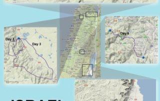 Israel - Galilæa & Jerusalem kort